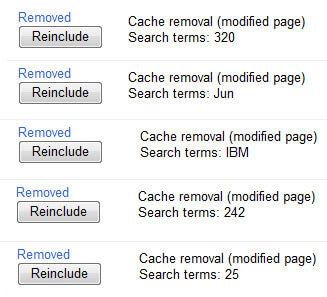 successful cache removals